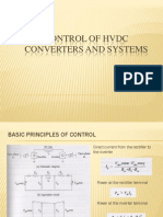 Control of Hvdc