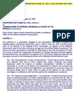 29. Philippine Acetylene Co., Inc. v. Cir, 20 Scra 1056 (1967)