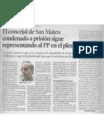 2015-01-29 Heraldo El Concejal de San Mateo Condenado a Prisión Sigue Representando Al Pp en El Pleno