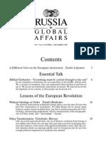 Russia in Global Affairs -- Vol.7 No.4, Oct-Dec 2009