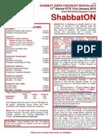 shabbaton 31 january 2015