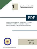 SIGAR Jan. 2015 report