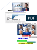 NBC-CBS and TRIBUNE Chicago Mayoral Poll 1-29-2015