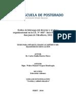 Estilos de Liderazgo y El Clima Organizacional 26-1-2015