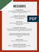 Ristorante Dessert Menu v4