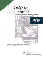 Ascunce Arrieta- El Quijote Como Tragedia y La Tragedia de Don Quijote