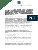 Postulación y Admisión de Alumnos según Art. 7° de Reforma Educacional 2015dos