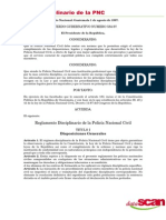 reglamento disciplinario de la policia nacional civil