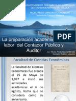 La Preparación Académica y la Labor Del Contador Público y Auditor