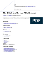 The Shiah Are the Real Ahlul-Sunnah
