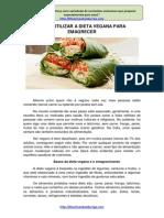 Como Utilizar a Dieta Vegana Para Emagrecer