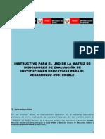 Instructivo de Uso de matriz de indicadores Educación Ambiental
