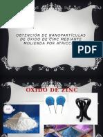 Obtención de Nanopartículas de Óxido de Cinc Mediante