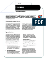 Conducting Interviews - Tips for Conducting Program Evaluation Issue 11, Fact Sheet