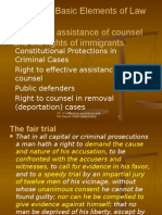 Ch. 2 Ineffective Assistance of Counsel; counsel for immigrants facing removal