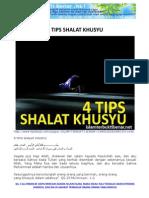 !!! 4 Tips Shalat Khusyu