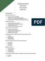 2015 Biologie Locala Arad Clasa a Viia Subiectbarem