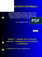 Planeamiento Estratégico - Análisis de factores internos - Fortalezas y Debilidades
