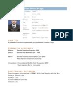 Nelson Pérez Arroyo Curriculum