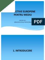 Directive Europene Pentru Mediu - Note de Curs Pentru Masteranzi