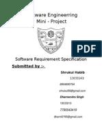 Software Engineerring Mini - Project