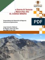 3 - Modelos Geologicos y de Exploracion - J. Camacho - Codelco
