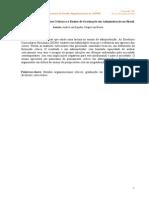 Estudos Organizacionais Críticos e o Ensino de Graduação Em Administração No Brasil
