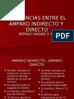 Comparativa Entre El Amparo Indirecto y Directo 2013