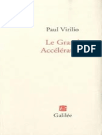 Le Grand Accélérateur - Paul Virilio