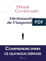 Dictionnaire de l'Impossible - Didier Van Cauwelaert