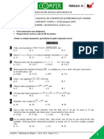 Subiecte Comper - Matematica