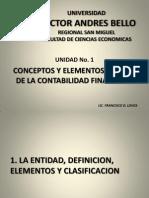 CONCEPTOS Y ELEMENTOS BASICOS DE LA CONTABILIDAD FINANCIERA