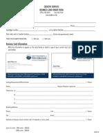 Business Card Order Form