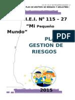 Plan de Gestion de Riesgos y Desastres 2015