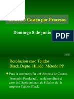 Refuerzo Costeo Por Procesos. 2014