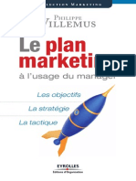 Le Plan Marketing à Lusage Du Manager