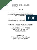 análisis de los marcos macroeconómicos multianuales