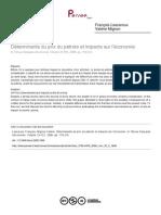 Déterminants Du Prix Du Pétrole Et Impacts Sur l'Économie