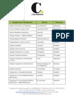Instituciones Prensa Escuela 2015