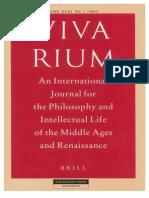 Vivarium - Vol Xliii, No 1, 2005