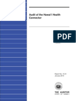 Audit of  the Hawaii Health Connector