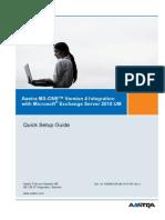 Quick Setup Guide - MX-OnE V4 Exchange 2010 UM - Rev C