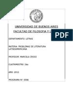 2013 2C - PROBLEMAS DE LITERATURA LATINOAMERICANA - CROCE.pdf