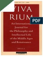 Vivarium - Vol Xliv, No. 1, 2006