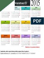 Calendar 2015 Romanesc Orizontal Color