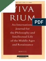 Vivarium - Vol Xliv, Nos. 2-3, 2006