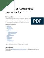 Big List of Apocalypse World Hacks