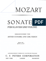 Mozart Piano & Violin Sonata No.1 in A