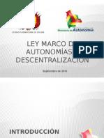 3. Ley Marco de Autonomias (Rpo)