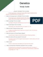 genetics study guide 2013 -- answer key